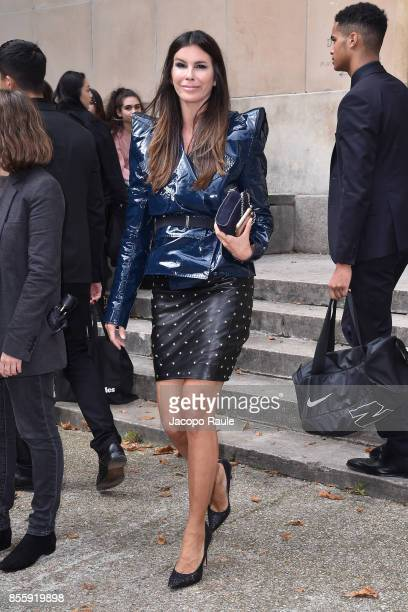 Christina Pitanguy is seen arriving at Mugler fashion show during the Paris Fashion Week Womenswear Spring/Summer 2018 on September 30 2017 in Paris...