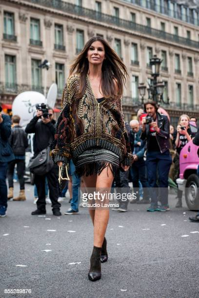 Christina Pitanguy is seen before the Balmain fashion show during Paris Fashion week Womenswear SS18 on September 28 2017 in Paris France