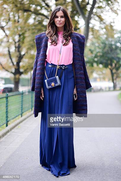 Christina Pitanguy poses ina Vionnet total look on September 24 2014 in Paris France