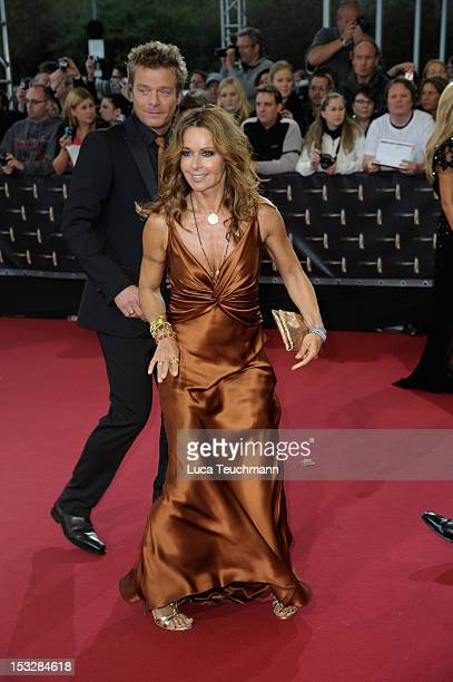 Christina Plate and Oliver Geissen arrive for the German TV Award 2012 at the Coloneum on October 2 2012 in Cologne Germany