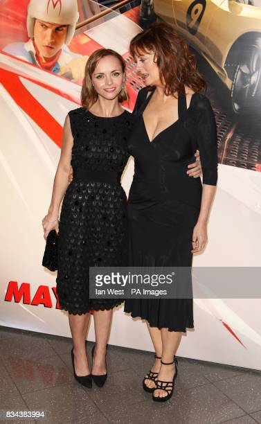 Christina Ricci and Susan Sarandon arrive for the UK premiere of Speed Racer at the Empire Leicester Square in central London