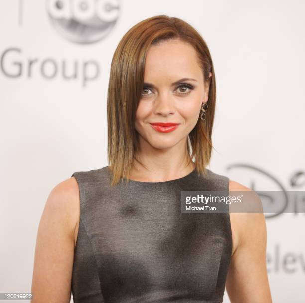 Christina Ricci arrives at the 2011 TCA Summer Press Tour Disney ABC Television Group held at The Beverly Hilton hotel on August 7 2011 in Beverly...
