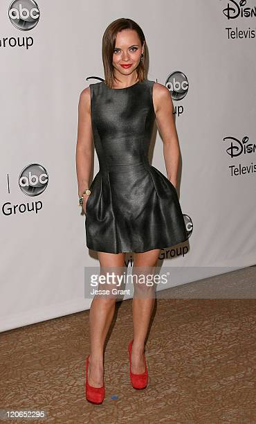 Christina Ricci arrives at the Disney ABC Television Group's 'TCA 2001 Summer Press Tour' at the Beverly Hilton Hotel on August 7 2011 in Beverly...