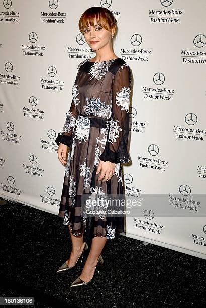 Christina Ricci attends Day 5 of MercedesBenz Fashion Week Spring 2014 at Lincoln Center for the Performing Arts on September 9 2013 in New York City