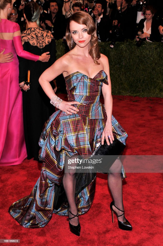 Christina Ricci attends the Costume Institute Gala for the 'PUNK Chaos to Couture' exhibition at the Metropolitan Museum of Art on May 6 2013 in New...