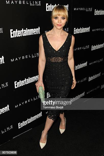 Christina Ricci attends the Entertainment Weekly's Celebration Honoring The 2016 SAG Awards Nominees held at Chateau Marmont on January 29 2016 in...