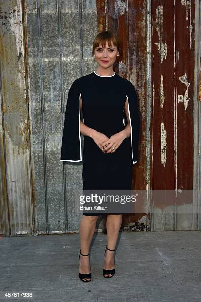 Christina Ricci attends the Givenchy show during Spring 2016 New York Fashion Week at Pier 26 on September 11 2015 in New York City