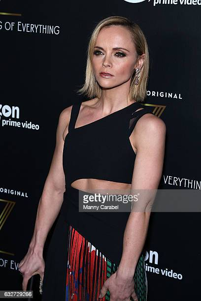 Christina Ricci attends the red carpet premiere of Amazon's new series 'Z The Beginning of Everything' at SVA Theatre on January 25 2017 in New York...