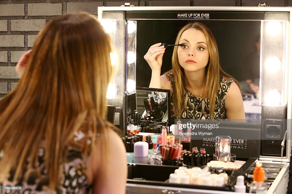 Christina Ricci debuts her MAKE UP FOR EVER Remix Make Up Bag at The MAKE UP FOR EVER Make Up Bag Remix Tour stop at The Grove on February 1, 2013 in Los Angeles, California.