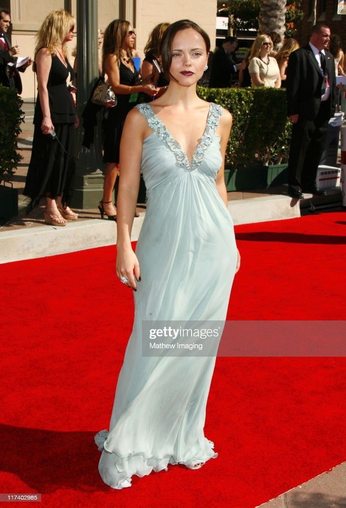 Christina Ricci during 58th Annual Creative Arts Emmy Awards Red Carpet at The Shrine Auditorium in Los Angeles California United States