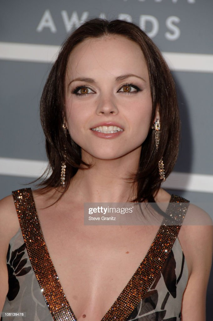 <a gi-track='captionPersonalityLinkClicked' href=/galleries/search?phrase=Christina+Ricci&family=editorial&specificpeople=239510 ng-click='$event.stopPropagation()'>Christina Ricci</a> during The 49th Annual GRAMMY Awards - Arrivals at Staples Center in Los Angeles, California, United States.