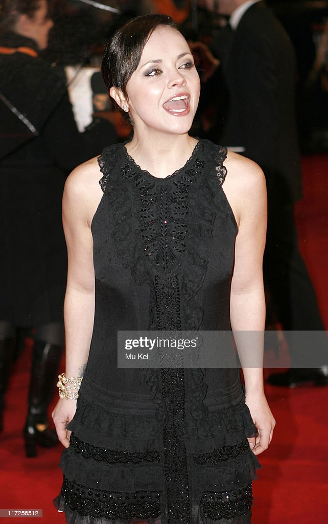 Christina Ricci during The Orange British Academy Film Awards 2006 - Arrivals at Odeon Leicester Square in London, Great Britain.