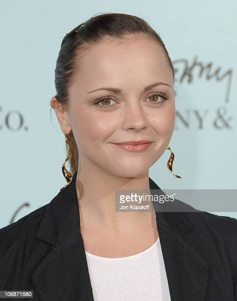 Christina Ricci during Tiffany Co Celebrates The Launch Of Frank Gehry's Premiere Collection On Rodeo Drive Arrivals at Tiffany Co in Beverly Hills...