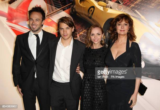 Christina Ricci Emile Hirsch Kick Gurry and Susan Sarandon arrive for the UK premiere of Speed Racer at the Empire Leicester Square in central London