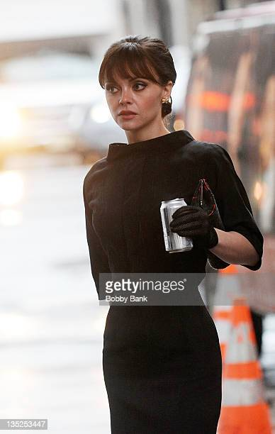Christina Ricci filming on location for 'Pan Am' on December 7 2011 in New York City
