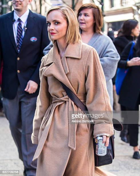Christina Ricci is seen at AOL Build on January 25 2017 in New York City