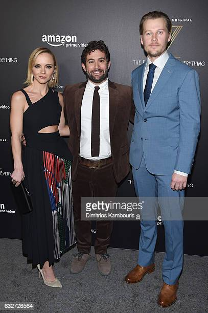 Christina Ricci Joe Lewis and David Hoflin attend the premiere event for Amazon Prime Video's Z THE BEGINNING OF EVERYTHING on January 25 2017 in New...
