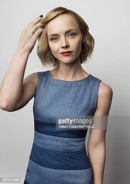 Christina Ricci poses for a portraits at the BAFTA Tea Party at Four Seasons Hotel Los Angeles at Beverly Hills on January 7 2017 in Los Angeles...