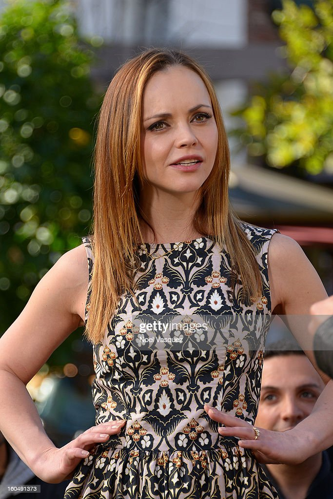 Christina Ricci visits Extra at The Grove on February 1, 2013 in Los Angeles, California.