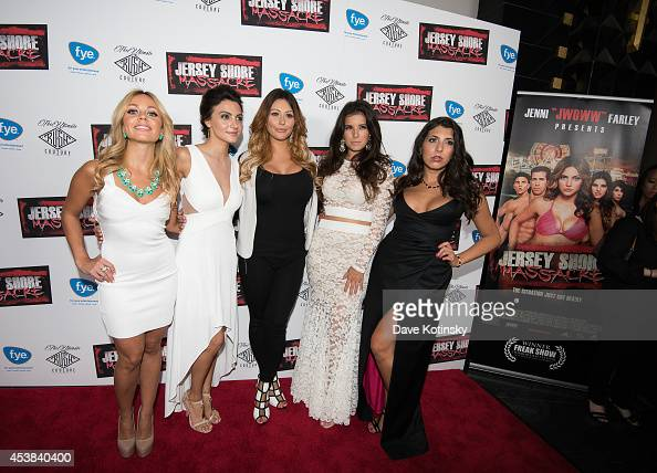 Christina Scaglione Danielle Dallacco Jenni Farley Angelica Boccella Nicole Rutigliano attend the 'Jersey Shore Massacre' New York Premiere at AMC...