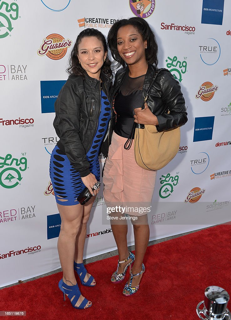 Christina Solorio and Lauren Domio (L-R) attend the 6th Annual 'Where Hip Hop Meets Couture' Fashion Show at Dog Patch Wine Works on March 30, 2013 in San Francisco, California.