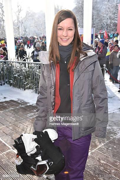 Christina Stuermer during the Hahnenkamm race on January 23 2016 in Kitzbuehel Austria