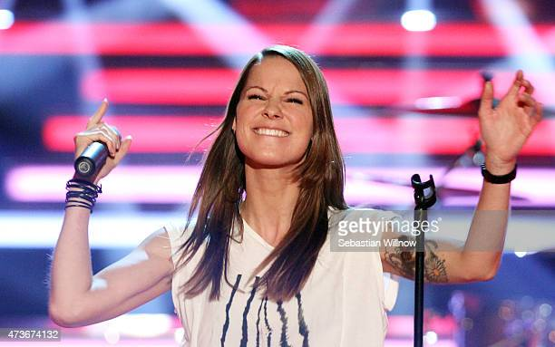 Christina Stuermer during the television show 'Willkommen bei Carmen Nebel' on May 16 2015 in Magdeburg Germany
