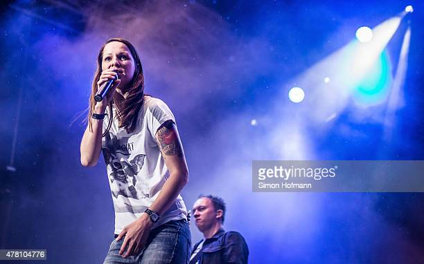Christina Stuermer performs on stage during Schlosspark Open Air Weinheim on June 21 2015 in Weinheim Germany