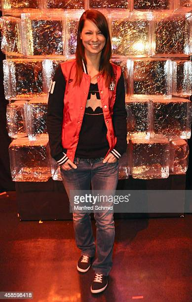 Christina Stuermer poses for a photograph during the 'Die Grosse Chance' TVShow final after party at ORF Zentrum on November 7 2014 in Vienna Austria