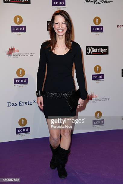 Christina Stuermer poses on the red carpet prior the Echo award 2014 on March 27 2014 in Berlin Germany