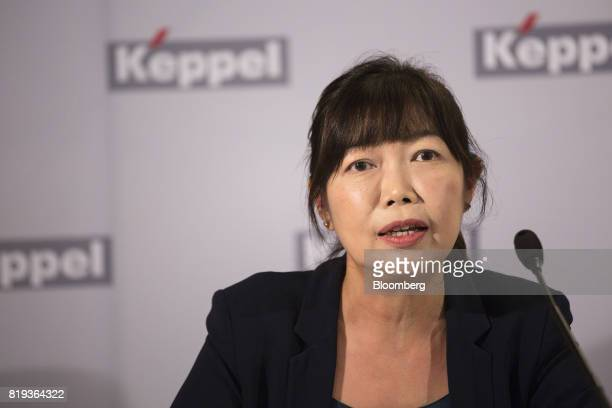 Christina Tan chief executive officer of Keppel Capital Holdings Pte Ltd speaks during a news briefing in Singapore on Thursday July 20 2017 Keppel...