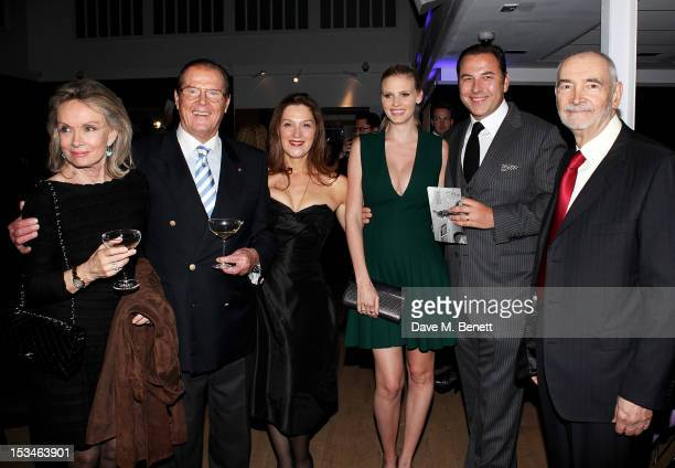 Christina Tholstrup Sir Roger Moore Barbara Broccoli Lara Stone David Walliams and Michael G Wilson attend '50 Years Of James Bond The Auction'...