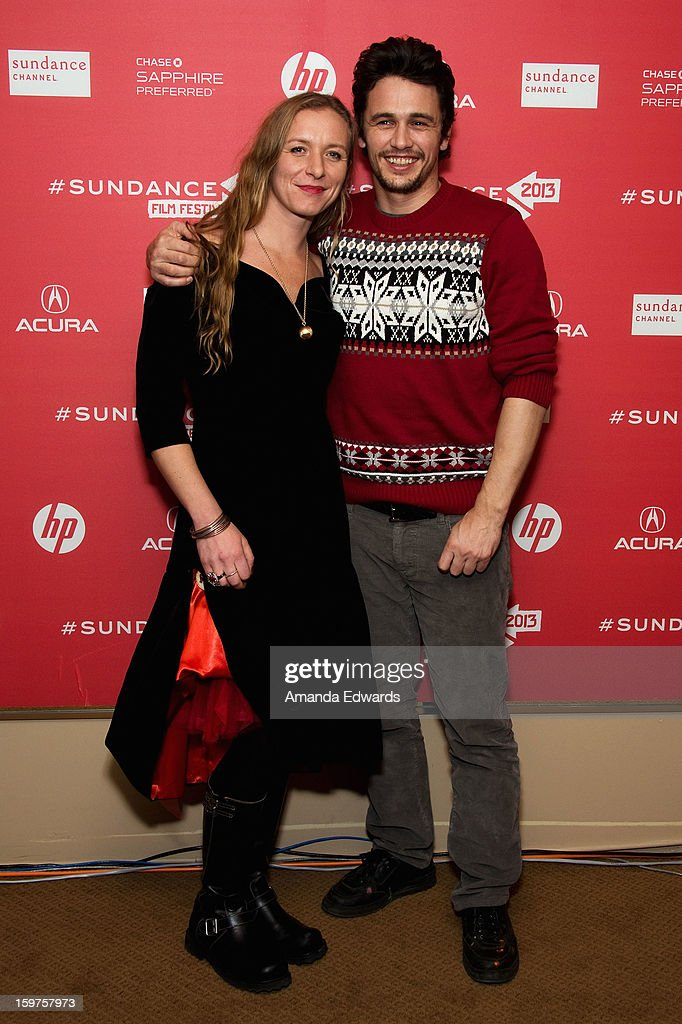 Christina Voros (L) and James Franco attend the 'Kink' premiere at Egyptian Theatre during the 2013 Sundance Film Festival on January 19, 2013 in Park City, Utah.
