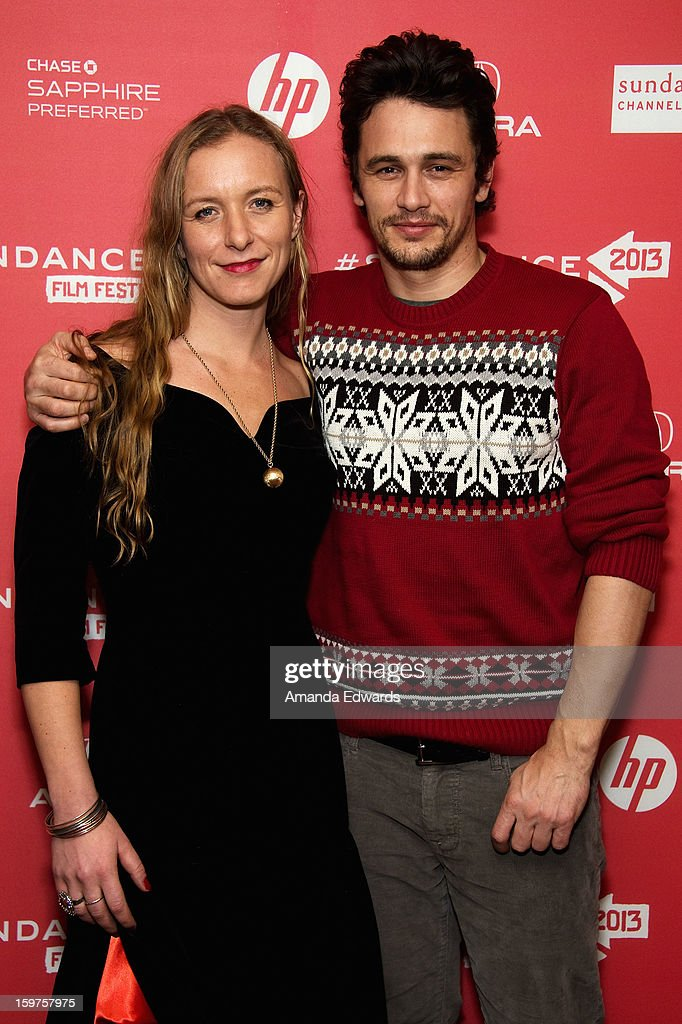 Christina Voros (L) and <a gi-track='captionPersonalityLinkClicked' href=/galleries/search?phrase=James+Franco&family=editorial&specificpeople=577480 ng-click='$event.stopPropagation()'>James Franco</a> attend the 'Kink' premiere at Egyptian Theatre during the 2013 Sundance Film Festival on January 19, 2013 in Park City, Utah.