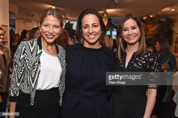 Christina Vuleta Anne Fulenwider and Rebecca Jarvis attend the Hearst 100 at Michael's Restaurant on December 11 2017 in New York City