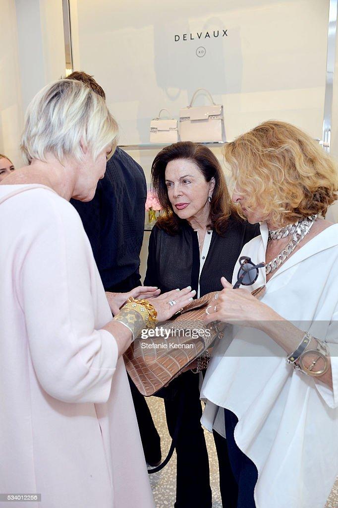 Christina Zeller, Wendy Goldberg and Ann Dexter-Jones attend Barneys New York, Ann Dexter-Jones, And Annabelle Dexter-Jones Host A Private Luncheon For Delvaux at Barneys New York Beverly Hills on May 24, 2016 in Beverly Hills, California.
