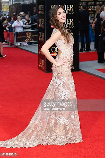 Christine Allado attends The Olivier Awards with Mastercard at The Royal Opera House on April 3 2016 in London England