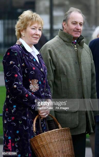 Christine and Neil Hamilton leave St Margaret's Church in Westminster London after the memorial service of former Conservative cabinet minister Lord...