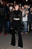 Balmain : Outside Arrivals -  Paris Fashion Week -...