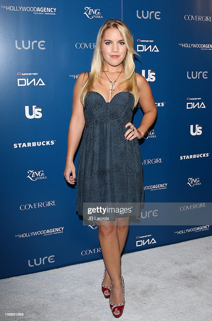 Christine Anderson attends the US Weekly Magazine's Music Party With Performance By The Wanted at Lure on November 18, 2012 in Hollywood, California.
