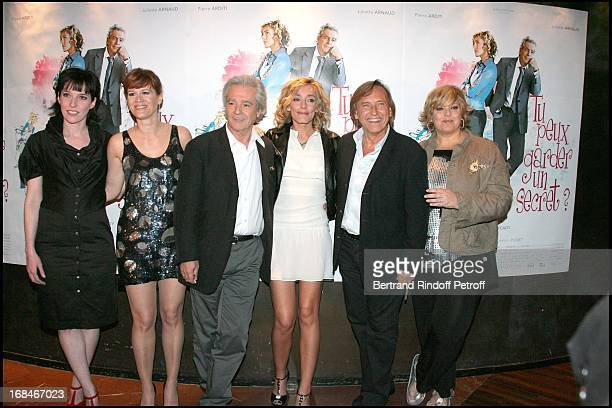 Christine Anglio Corinne Puget Pierre Arditi Juliette Arnaud Alexandre Arcady Laurence Boccolini at Paris Premiere Of The Film Tu Peux Garder Un...
