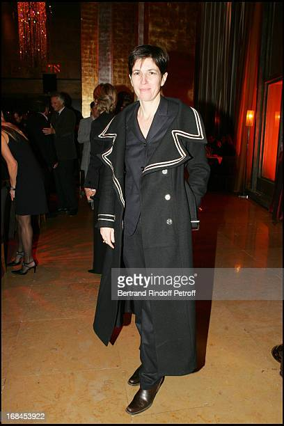 Christine Angot at 100th Episode Of 'Campus' Of Guillaume Durant At Le Cafe De L'Homme Restaurant At The Trocadero