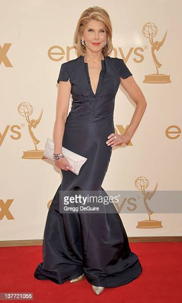 Christine Baranski arrives at the Academy of Television Arts Sciences 63rd Primetime Emmy Awards at Nokia Theatre LA Live on September 18 2011 in Los...