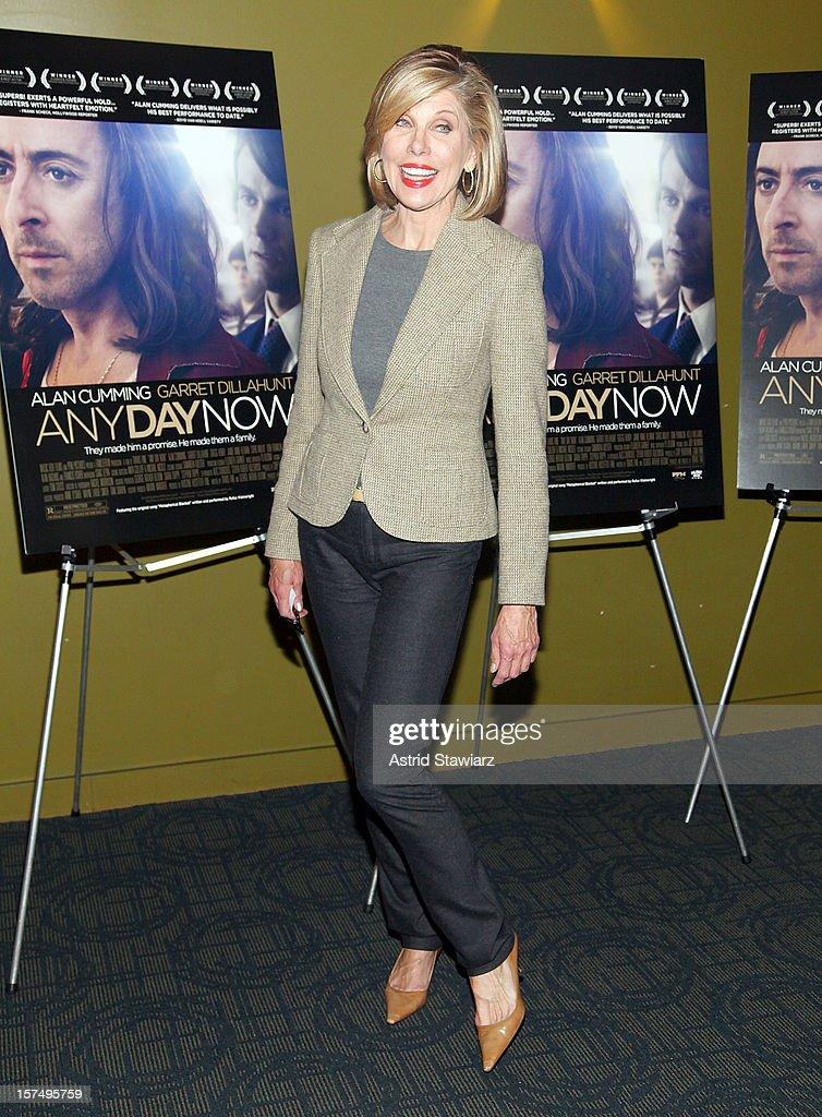 Christine Baranski attends 'Any Day Now' New York Premiere at Sunshine Landmark on December 3 2012 in New York City