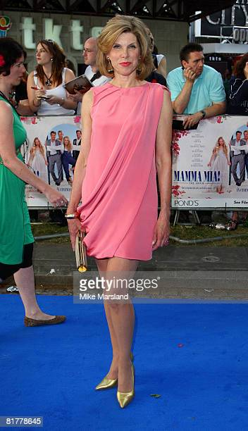 Christine Baranski attends the world premiere of 'Mamma Mia' the Movie at the Odeon Leicester Square on June 30 2008 in London