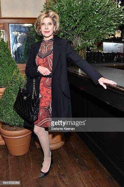 Christine Baranski attends Through Her Lens The Tribeca Chanel Women's Filmmaker Program luncheon at Locanda Verde on October 26 2015 in New York City