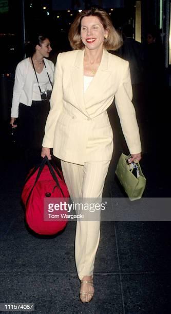 Christine Baranski during Christine Baranski Leaving Theatre After Play 'Art' June 1988 in New York City New York United States
