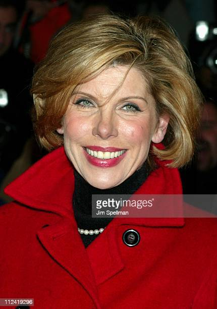 Christine Baranski during 'The Hours' New York City Premiere Arrivals at The Paris Theater in New York City New York United States
