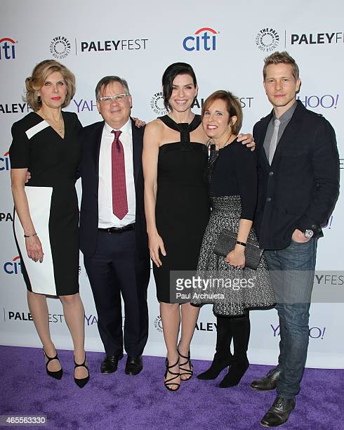 Christine Baranski Robert King Julianna Margulies Michelle King and Matt Czuchry attend the 32nd annual PALEYFEST LA featuring 'The Good Wife'...