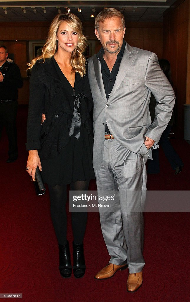 Christine Baumgartner and actor Kevin Costner attend the 20th anniversary screening of the film 'Field of Dreams' at the Academy of Motion Picture...